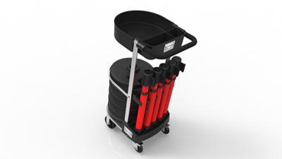 The PLUS Line Cart Package - Portable Barrier Systems from Banner Stakes