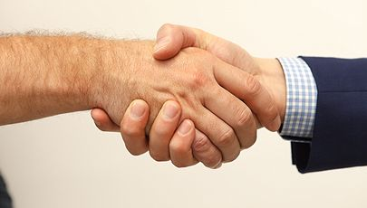 image of two hands shaking