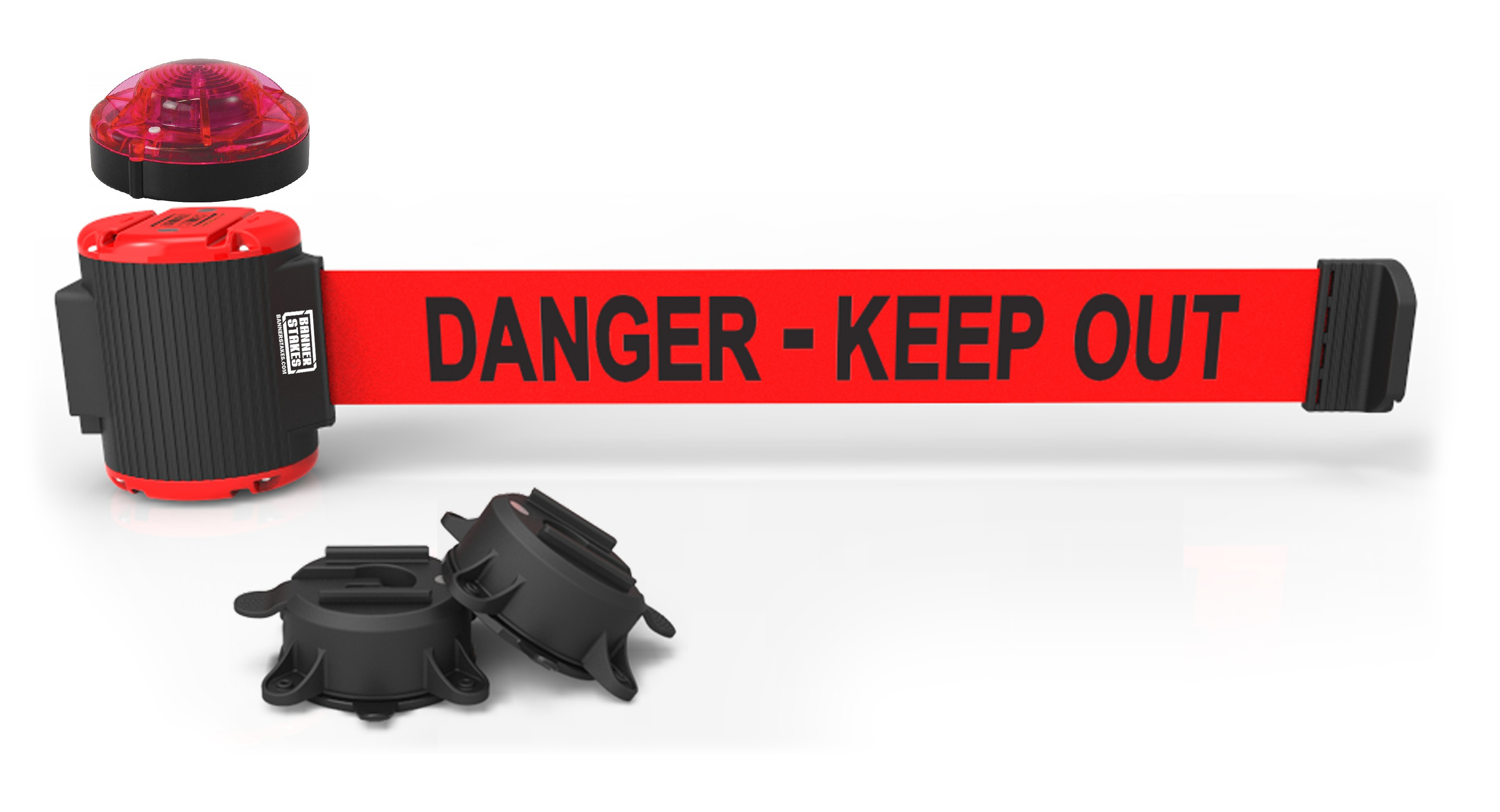 image of safety barrier and wall mounts