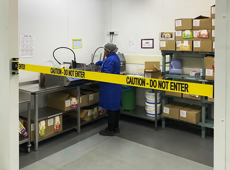 image of barrier blocking food prep area