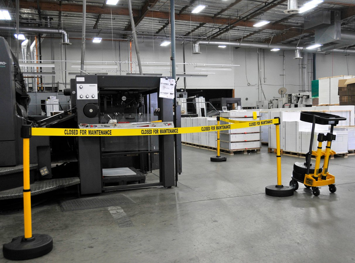 image of barrier in warehouse