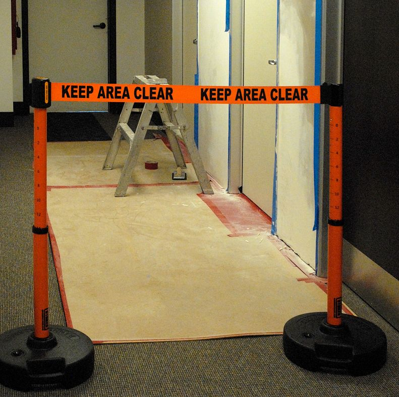 image of barrier closing hallway