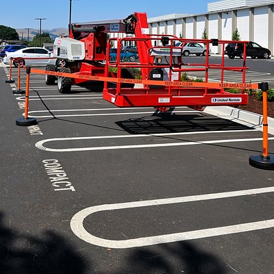 image of barrier in parking lot
