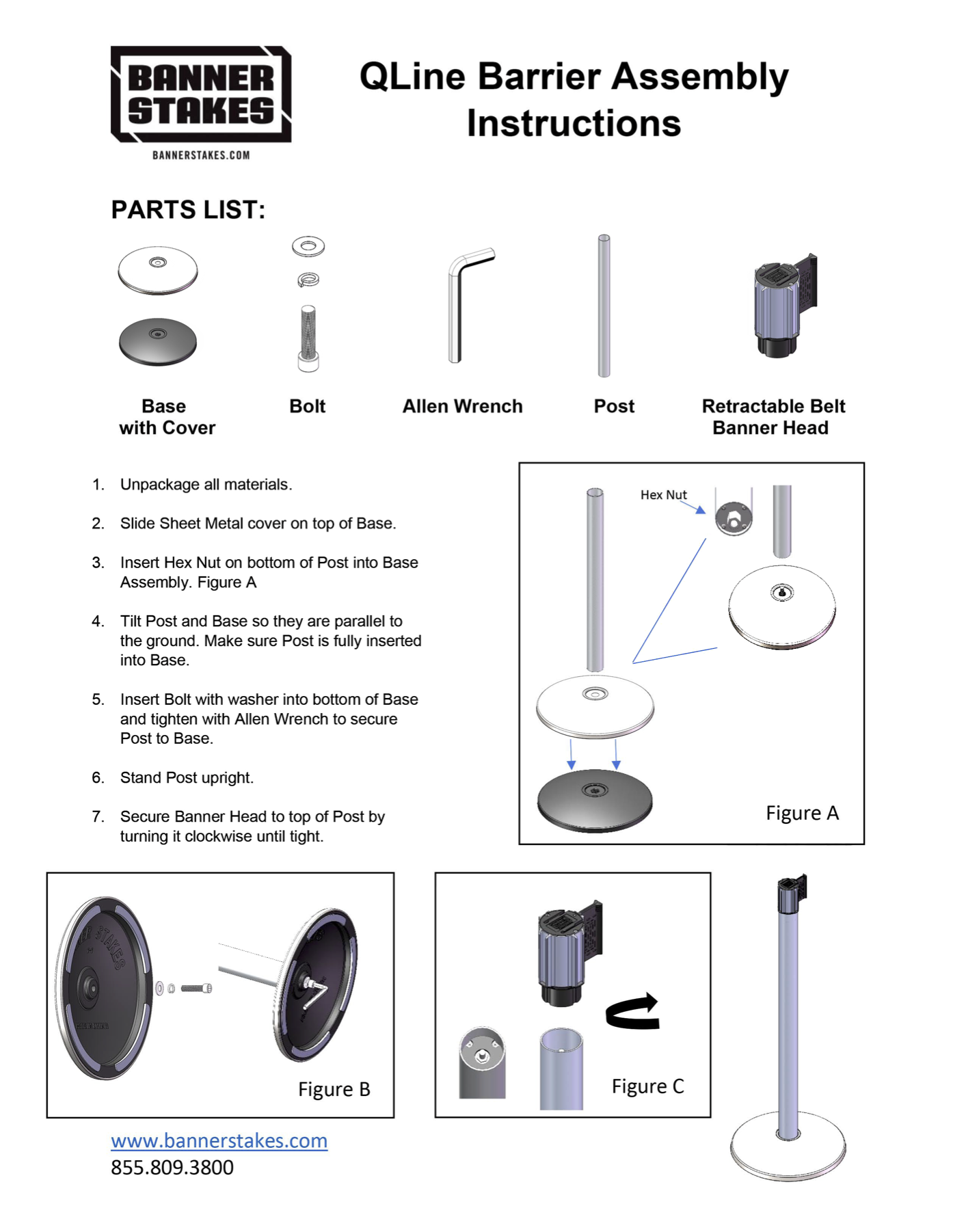 QLine Barrier Assembly Instructions
