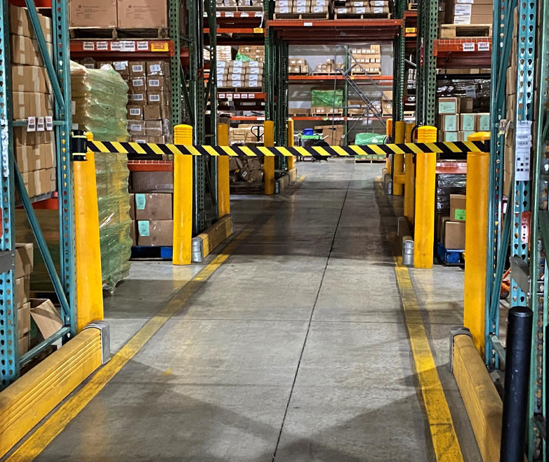 image of warehouse barrier