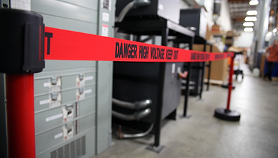 image of high voltage safety barrier