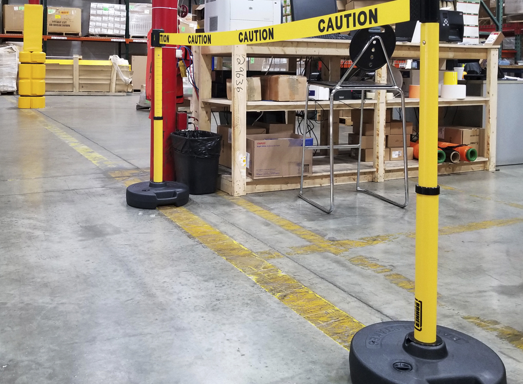 image of caution safety barrier
