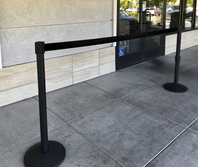 image of barrier creating queue
