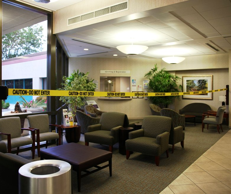 image of barrier in lobby