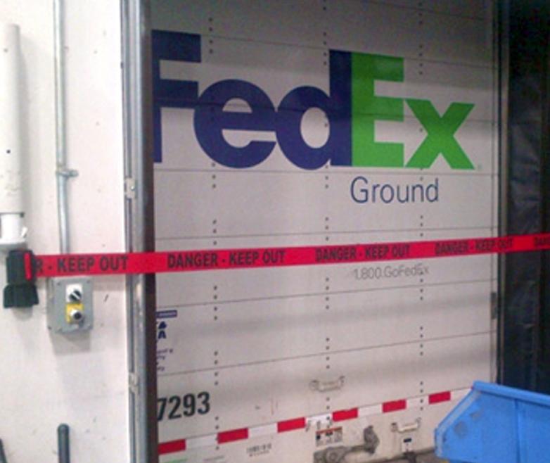 image of barrier at FedEx