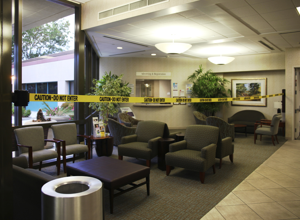 image of safety barrier blocking hotel space