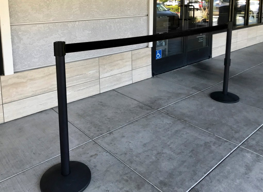 image of barrier at store front